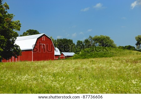 Red barn in upper New York state