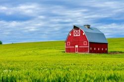 Red Barn on the Palouse, WA-USA
