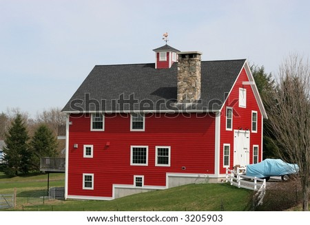 red barn renovated into home