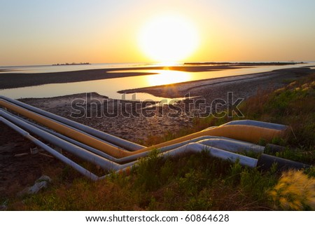 Red Beach on the oil pipeline