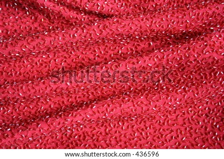 Red Beaded Fabric