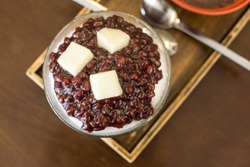 red bean shaved ice