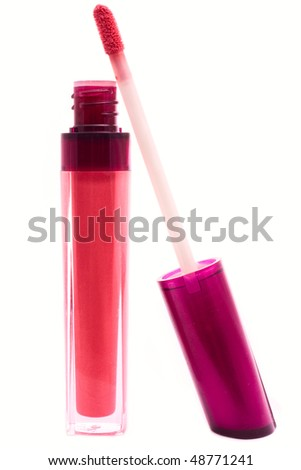 red beautiful gloss for lips