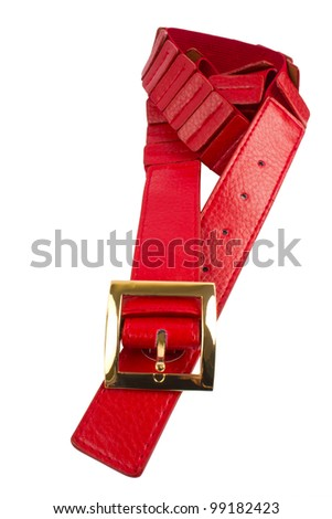 red belt isolated on white background