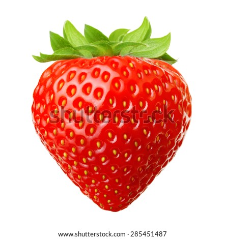 Shutterstock Red berry strawberry isolated on white background