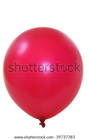 Red big balloon  isolated on white background (with clipping path)