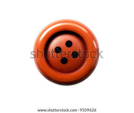 Red big button isolated on white