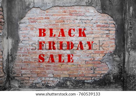 red black friday sale on old grudge brick wall textured