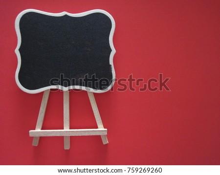 Red blackboard education template #759269260