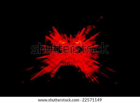 Red Blast abstract background