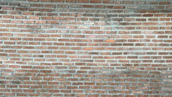 Red block wall for background or wall paper