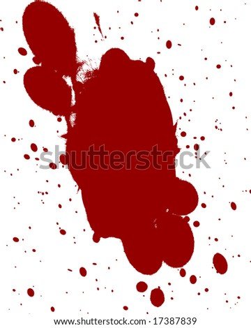 blood splatter black background. stock photo : red lood