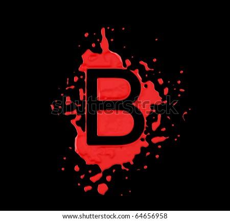 b Logo Red And Black Red Blot b Letter Over Black