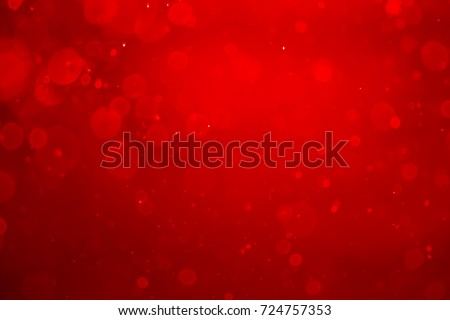 Red bokeh abstract background.