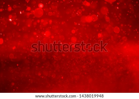 Red bokeh abstract background.christmas Red  background