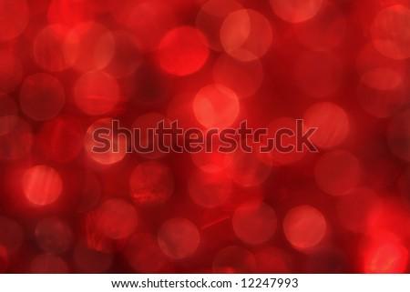 Red Bokeh of Lights