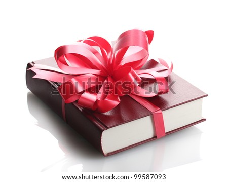 Red book for gift isolated on white