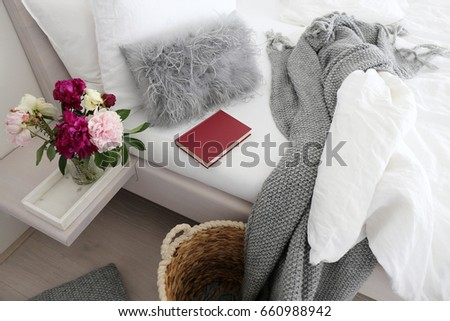 Red book / Reading in cosy bed  #660988942