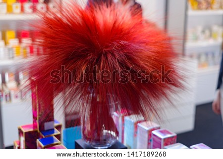 red bouquet decoration for interior decoration