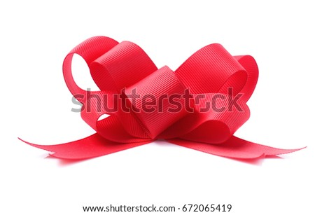 red bow isolated on white #672065419