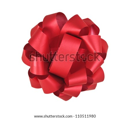 red bow isolated on white background