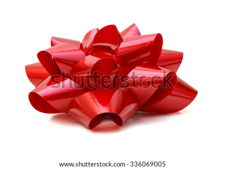 Red bow - isolated on white background