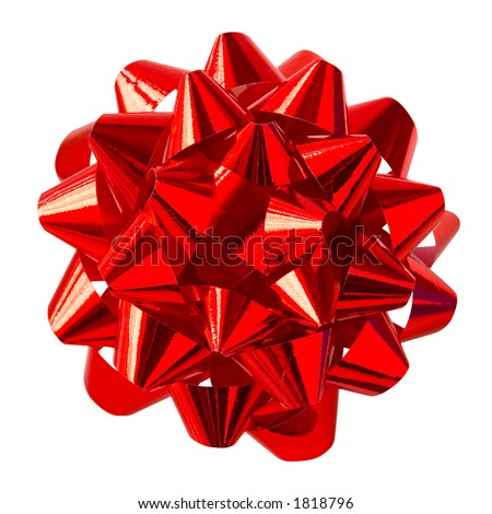 Red Bow (with clipping path for easy background removing)