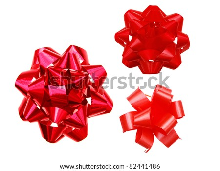Red bows in decorating