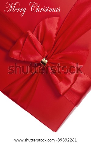 Red box gift with a nice bow