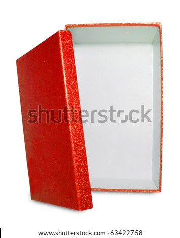 Red Box isolated