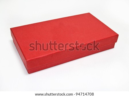 red box , isolated on white