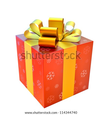 red box with yellow bow as a gift