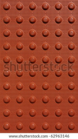 red braille background texture with dots
