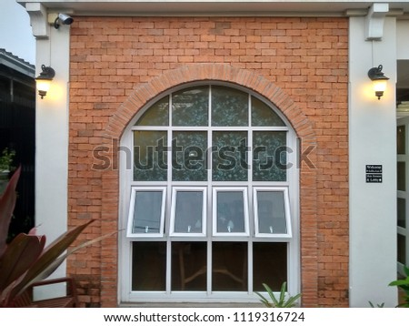 Red brick arch #1119316724
