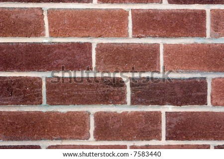 Red brick Background common bond - stock photo