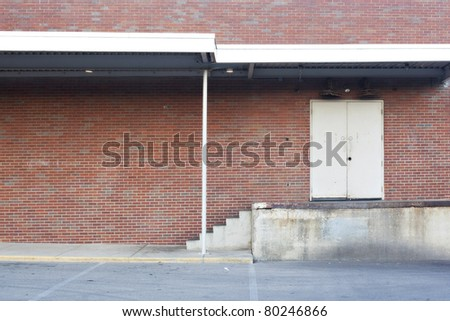 red brick loading dock background