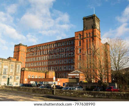 Red brick mill in Belper, Derbyshire