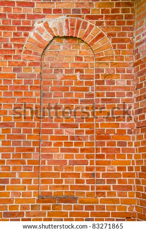 red brick old wall background and texture #83271865
