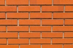 Red brick texture, rear background brick wall