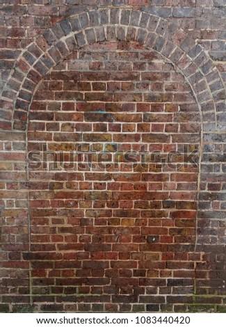 Red brick tunnel #1083440420