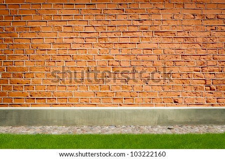 red brick wall