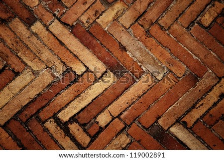 Red brick wall background - stock photo
