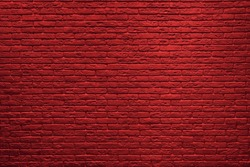 Red brick wall background. Brick wall texture.