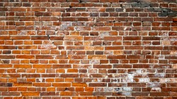 Red brick wall background, Red brick wall texture grunge background with vignetted corners to interior design