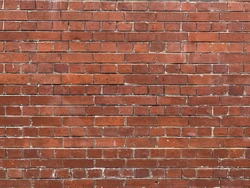 red brick wall background, rough