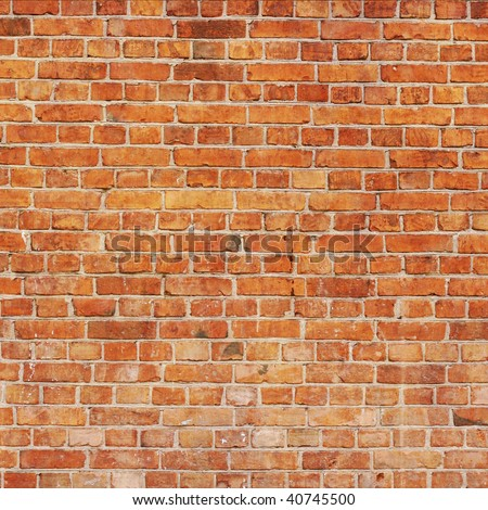 Red brick wall: can be used as background