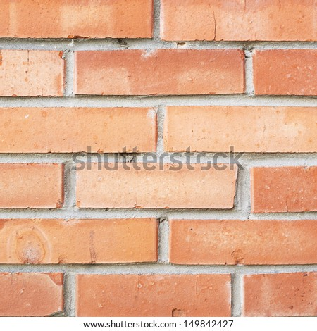 Red brick wall fragment as a background texture