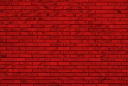 red brick wall - irregular pattern