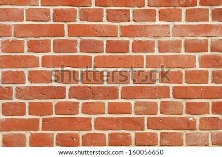 Red brick wall of old building.