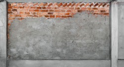 red brick wall plastering cement